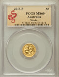 Australia, 2013-P G$5 Year of the Snake MS69 PCGS. PCGS Population (91/0). ...