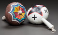 American Indian Art:Pipes, Tools, and Weapons, TWO PUEBLO POLYCHROME RATTLES... (Total: 2 Items)