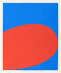 Prints:Contemporary, ELLSWORTH KELLY (American, b. 1923). Red/Blue (from Ten Works byTen Painters), 1964. Screenprint in colors. 22 x 18 inc...