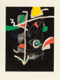 Prints, JOAN MIRÓ (Spanish, 1893-1983). Untitled, pl. 6 (from Libre dels sis sentits), 1981. Etching and aquatint in colors. 28-...
