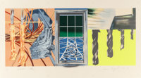 JAMES ROSENQUIST (American, b. 1933) Industrial Cottage, 1978-1980 Lithograph in colors 20-3/8 x