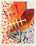 Prints:Contemporary, JAMES ROSENQUIST (American, b. 1933). The Light BulbShining, 1992. Lithograph in colors with metal chain. 52-1/2 x41-3...