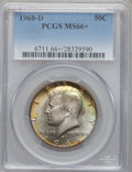 Kennedy Half Dollars: , 1968-D 50C MS66+ PCGS. PCGS Population (345/21). NGC Census:(155/8). Mintage: 246,951,936. Numismedia Wsl. Price for probl...