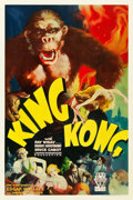 "Movie Posters:Horror, King Kong (RKO, 1933). One Sheet (27"" X 41"") Style B.. ..."