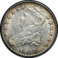 Bust Half Dollars, 1817 50C Punctuated Date AU53 NGC. O-103, R.2....