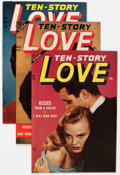 Golden Age (1938-1955):Romance, Ten Story Love Group (Ace, 1954-56) Condition: Average VF....(Total: 8 Comic Books)