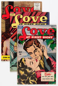 Golden Age (1938-1955):Romance, Love at First Sight Group (Ace, 1950-56) Condition: Average VF....(Total: 9 Comic Books)