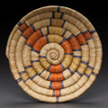American Indian Art:Baskets, A HOPI BUNDLE COILED TRAY...
