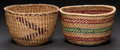 American Indian Art:Baskets, TWO NORTHWEST COAST TWINED BASKETS ... (Total: 2 Items)