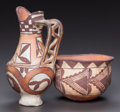 American Indian Art:Pottery, TWO ACOMA POLYCHROME VESSELS. c. 1900... (Total: 2 Items)