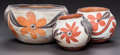 American Indian Art:Pottery, THREE ACOMA POLYCHROME JARS. c. 1900... (Total: 3 Items)