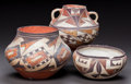 American Indian Art:Pottery, THREE ACOMA POLYCHROME VESSELS. c. 1900... (Total: 3 Items)