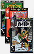 Modern Age (1980-Present):Miscellaneous, Justice (New Universe) Short Boxes Group (Marvel, 1986-89) Condition: Average NM.... (Total: 2 Box Lots)