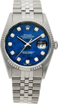 Timepieces:Wristwatch, No Shipping into the U.S. - Rolex Ref. 16234 Steel Oyster PerpetualDateJust, circa 1999. ...
