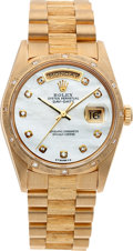 Timepieces:Wristwatch, No Shipping into the U.S. - Rolex Ref. 16238 Gold Oyster PerpetualDay-Date, circa 1995. ...