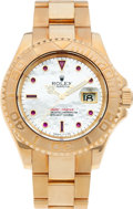 Timepieces:Wristwatch, No Shipping into the U.S. - Rolex Ref. 16628 Gent's Gold Yacht-Master, circa 2000. ...