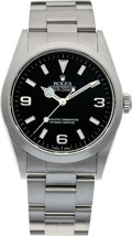 Timepieces:Wristwatch, No Shipping into the U.S. - Rolex Ref. 14270 Steel Explorer, circa 1999. ...
