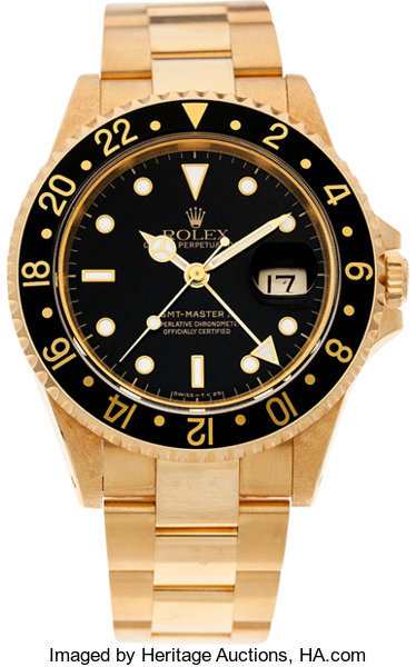 d96fa6e9d No Shipping into the U.S. - Rolex Ref. 16718 Gold GMT Master | Lot #60157 |  Heritage Auctions