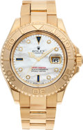 Timepieces:Wristwatch, No Shipping into the U.S. - Rolex Ref. 16628 Gent's Gold Yacht-Master, circa 1997. ...