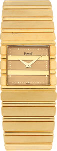 Timepieces:Wristwatch, No Shipping into the U.S. - Piaget Gent's Gold Wristwatch. ...