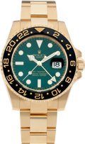 Timepieces:Wristwatch, No Shipping into the U.S. - Rolex Ref. 116718 Gold GMT Master II,Green Dial, circa 2007. ...