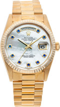 Timepieces:Wristwatch, No Shipping into the U.S. - Rolex Ref. 18238 Gent's Day-Date President Mother-of-Pearl Dial, circa 1999. ...