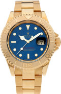 Timepieces:Wristwatch, No Shipping into the U.S. - Rolex Ref. 16628 Gent's Gold Yacht-Master, circa 1993. ...