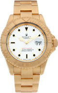 Timepieces:Wristwatch, No Shipping into the U.S. - Rolex Ref. 16628 Gent's GoldYacht-Master, circa 1992. ...