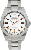 Timepieces:Wristwatch, No Shipping into the U.S. - Rolex Ref. 116400 Steel OysterPerpetual Milgauss, circa 2007. ...