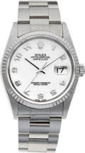 Timepieces:Wristwatch, No Shipping into the U.S. - Rolex Ref. 16234 Steel Oyster Perpetual Datejust, circa 1997. ...