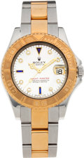 Timepieces:Wristwatch, No Shipping into the U.S. - Rolex Ref. 16622 Mid-Size 18k Gold& Steel Yacht-Master Wristwatch, circa 1999. ...