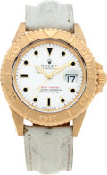 Timepieces:Wristwatch, No Shipping into the U.S. - Rolex Ref. 16628 18k Gold Yacht Master,circa 2000. ...