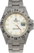 Timepieces:Wristwatch, No Shipping into the U.S. - Rolex Ref. 16550 Ivory Colored DialSteel Explorer II, circa 1984. ...
