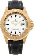 Timepieces:Wristwatch, No Shipping into the U.S. - Rolex Ref. 16628 Gent's GoldYacht-Master, circa 1994. ...