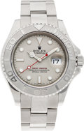 Timepieces:Wristwatch, No Shipping into the U.S. - Rolex Ref. 16622 Gent's Steel & Platinum Yacht-Master, circa 1999. ...