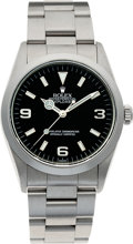 Timepieces:Wristwatch, No Shipping into the U.S. - Rolex Ref. 14270 Steel Explorer, circa1999. ...