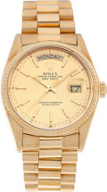 Timepieces:Wristwatch, No Shipping into the U.S. - Rolex Ref. 18308 Gold Oyster PerpetualDay-Date, circa 1980. ...