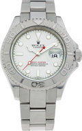 Timepieces:Wristwatch, No Shipping into the U.S. - Rolex Ref. 16622 Gent's Steel &Platinum Yacht-Master, circa 1999. ...