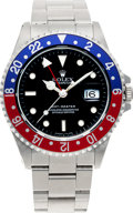 Timepieces:Wristwatch, No Shipping into the U.S. - Rolex Ref. 16700 Steel GMT Master II,circa 1990. ...