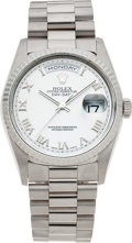 Timepieces:Wristwatch, No Shipping into the U.S. - Rolex White Gold Gent's President Ref.18239, circa 1999. ...