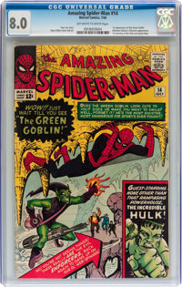 The Amazing Spider-Man #14 (Marvel, 1964) CGC VF 8.0 Off-white to white pages