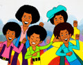 "Animation Art:Production Cel, The Jackson 5ive ""Who's Hoozis?"" Production Cel(Rankin-Bass, 1972)...."