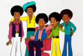 Animation Art:Production Cel, The Jackson 5ive Production Cel Set-Up (Rankin-Bass,1971)....