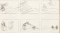 Animation Art:Production Drawing, Mickey's Fire Brigade Preliminary Storyboard (Walt Disney,1935)....