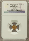 California Fractional Gold, 1872 25C Liberty Round 25 Cents, BG-814, High R.5, Bent. NGCDetails. UNC. NGC Census: (0/4). PCGS Population (0/16)....