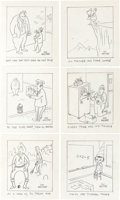 Animation Art:Production Drawing, Roy Williams Poem Book Vaporisms Plus Six Gag Sketches(1967)....