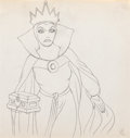 Animation Art:Production Drawing, Snow White and the Seven Dwarfs Evil Queen ProductionDrawing (Walt Disney, 1937)....