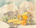 Texas:Early Texas Art - Drawings & Prints, LOUIS EDWARD GRENET (French/American, 1857-1922). Still Lifewith Fruit. Watercolor on paper. 15 x 18-1/2 inches(38.1...