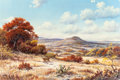 Texas:Early Texas Art - Regionalists, J.W. THRASHER (American, b. 1940). Landscape with Deer. Oilon canvas. 24 x 36 inches (61.0 x 91.4 cm). Signed lower lef...