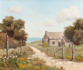 Texas:Early Texas Art - Regionalists, PALMER CHRISMAN (American, 1913-1984). Country Scene withShed. Oil on canvas. 20 x 24 inches (50.8 x 61.0 cm). Signedl...